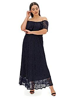 Joanna Hope Lace Badot Maxi Dress