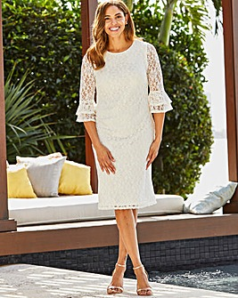 Joanna Hope Double Cuff Lace Dress