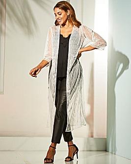 Joanna Hope Beaded Longline Kimono