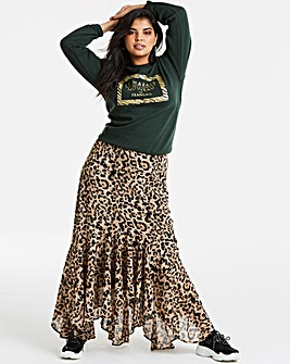 Joanna Hope Leopard Maxi Skirt