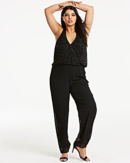 Joanna Hope Beaded Halterneck Jumpsuit