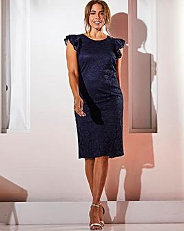 Joanna Hope Frill Sleeve Lace Dress