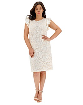 Joanna Hope Frill Sleeve Lace Dress