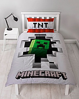 Minecraft Dynamite Single panel duvet