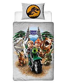 Lego Jurassic Single Panel Duvet