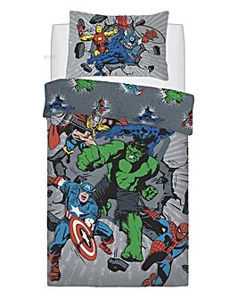 Marvel Break Thru Panel Duvet