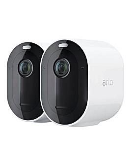 Arlo Pro 4 Spotlight Camera 2k Twin Pack