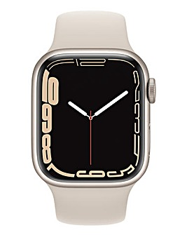 Apple Watch Series 7 GPS + Cellular, 41mm Starlight Sport Band