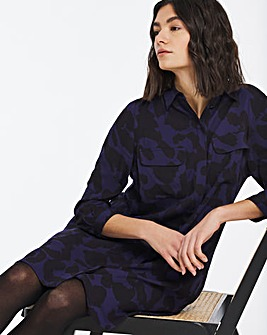 Blue Animal Shirt Dress