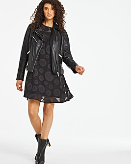 Devore Spot Shift Dress