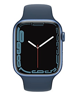 Apple Watch Series 7 GPS + Cellular, 45mm Blue with Abyss Blue Sport Band