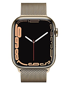 Apple Watch Series 7 GPS + Cellular, 45mm with Gold Milanese Loop