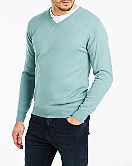 Duck Egg V-Neck Jumper