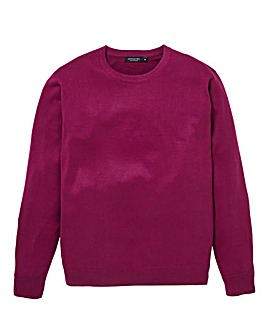 Magenta Crew Neck Jumper