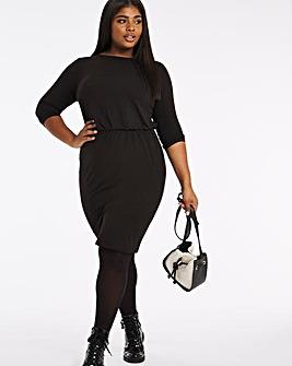 Blouson Top Bodycon Dress