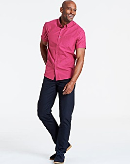 Raspberry Short Sleeve Oxford Shirt