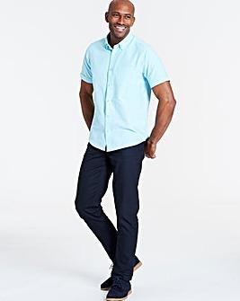 Mint Short Sleeve Oxford Shirt Long