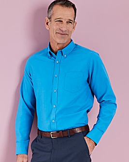 Azure Blue L/S Oxford Shirt