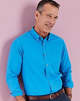 Azure Blue Long Sleeve Oxford Shirt Long