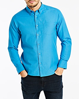 Azure Blue Long Sleeve Oxford Shirt Long