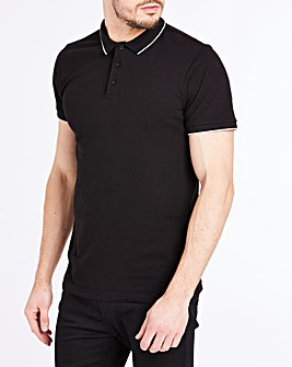 Black Stretch Tipped Polo