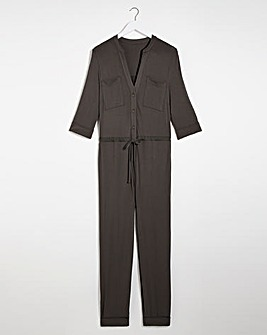 Graphite Jersey Jumpsuit