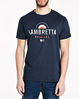 Lambretta Washed Graphic T-Shirt Long