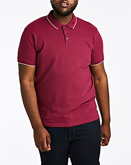 Magenta Stretch Tipped Polo