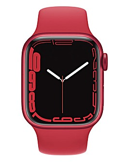 Apple Watch Series 7 GPS, 41mm with (PRODUCT)RED Sport Band - Regular
