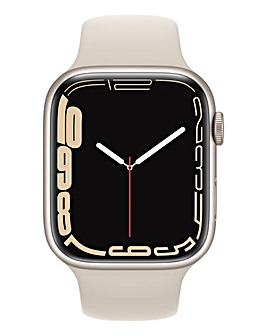 Apple Watch Series 7 GPS, 45mm with Starlight Sport Band