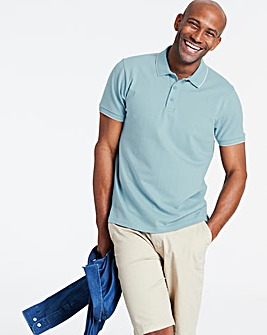 Duck Egg Stretch Tipped Polo Long
