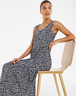 Tiered Vest Maxi Dress