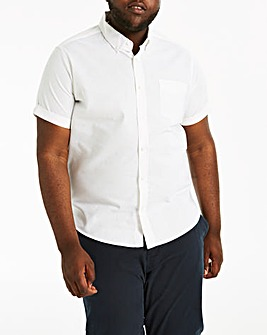 White S/S Stretch Oxford Shirt