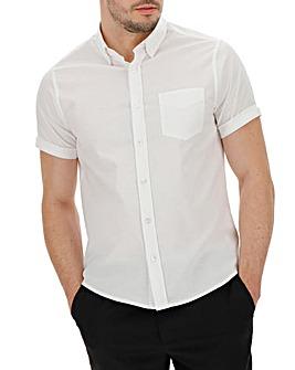 White S/S Stretch Oxford Shirt