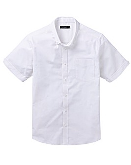 White S/S Stretch Oxford Shirt R