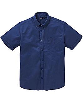 Navy S/S Stretch Oxford Shirt L