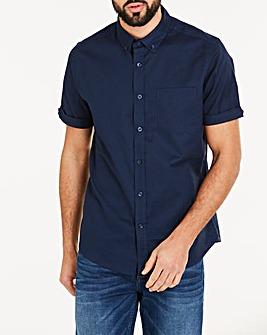 Navy S/S Stretch Oxford Shirt R