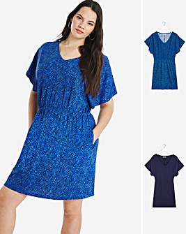 2 Pack Angel Sleeve Dresses