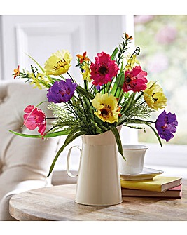 Mixed Flowers Jug Brights