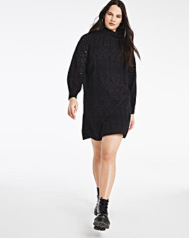 Black Broderie Cotton Dress