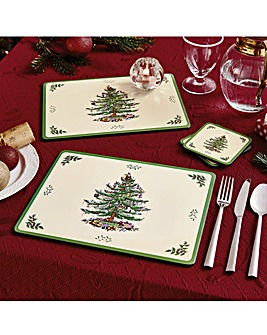 Christmas Tree Placemats and Coasters