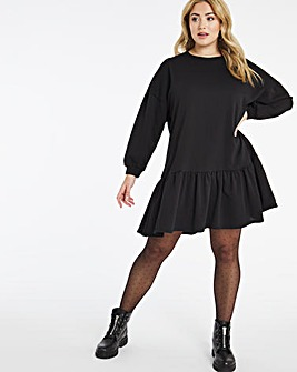 Black Smock Sweater Dress