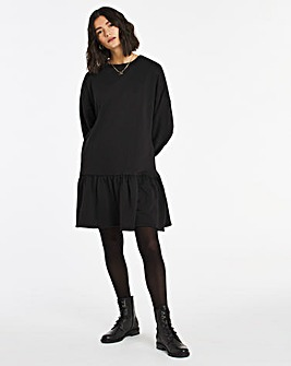 Black Smock Sweat Dress
