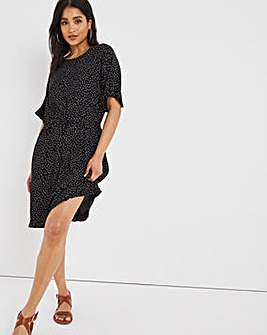 Drawcord Waist Tunic Dress