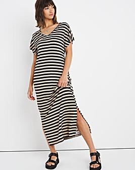 Midi T-Shirt Dress with Side Splits