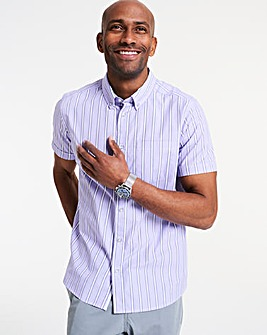 Short Sleeve Bengal Stripe Shirt