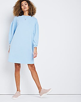 Denim Blue Jersey Sweatshirt Dress