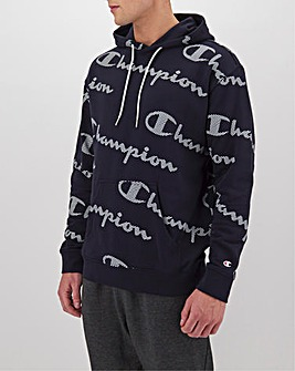 Champion All Over Print Hooded Sweatshirt