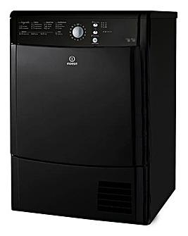 Indesit 8kg Condenser Dryer Black