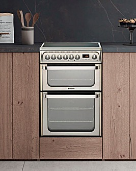 Hotpoint Ultima HUE61XS Electric Double Cooker - Stainless Steel